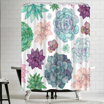 Elena Oneill Succulent Garden Shower Curtain