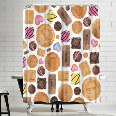Elena Oneill Sweets and Biscuits Shower Curtain