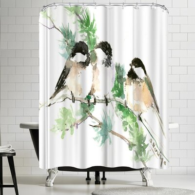 Suren Nersisyan Chickadees Shower Curtain