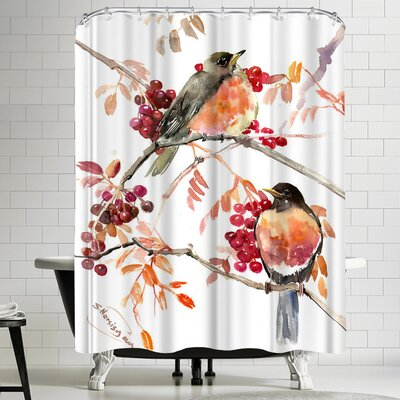 Suren Nersisyan American Robin Shower Curtain