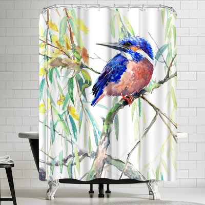 Suren Nersisyan Common Kingfisher Shower Curtain