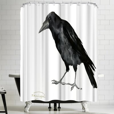Suren Nersisyan Crow Shower Curtain