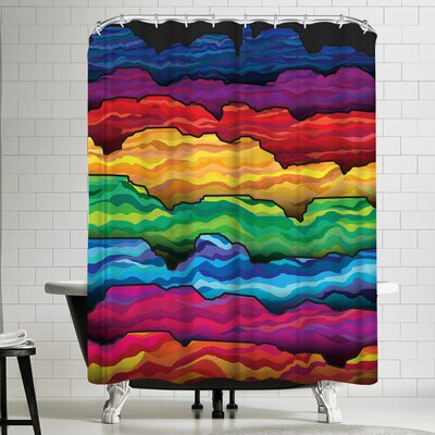 Joe Van Wetering The Badlands Shower Curtain