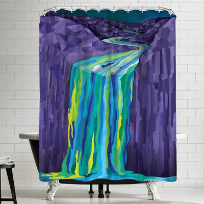 Joe Van Wetering The Great Waterfall Shower Curtain