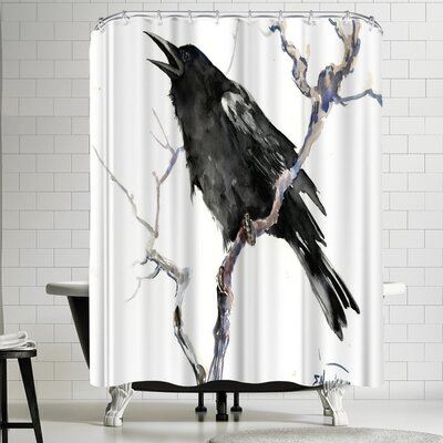 Suren Nersisyan Crow 2 Shower Curtain