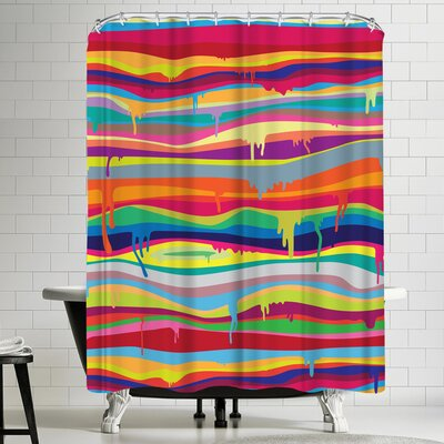 Joe Van Wetering The Melting Shower Curtain