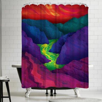 Joe Van Wetering Up Stream Shower Curtain
