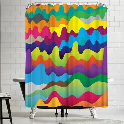 Joe Van Wetering Waves Shower Curtain