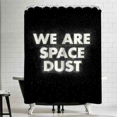 Joe Van Wetering We Are Space Dust Shower Curtain