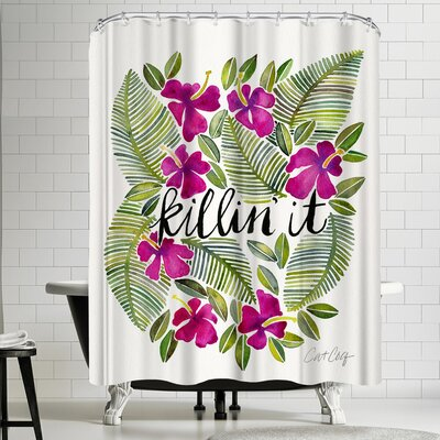Cat Coquillette Killinit Magenta Shower Curtain