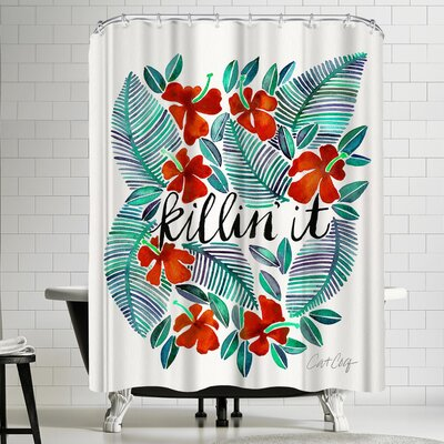 Cat Coquillette Killinit Red Shower Curtain