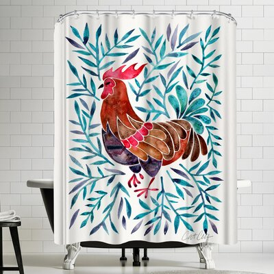 Lecoq Green Leaves Shower Curtain