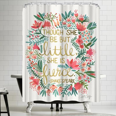 Little and Fierce Shower Curtain