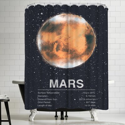 Tracie Andrews Mars Shower Curtain
