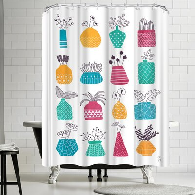 Tracie Andrews Ornamental Vases Shower Curtain