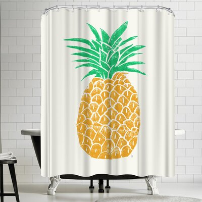 Tracie Andrews Pineapple Shower Curtain