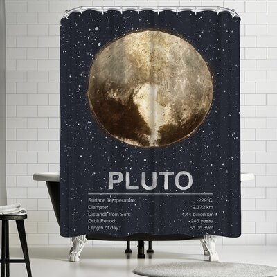 Tracie Andrews Pluto Shower Curtain
