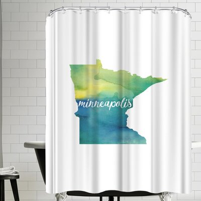 Paperfinch MN Minneapolis Shower Curtain