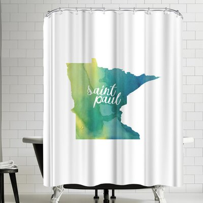 Paperfinch MN Saint Paul Shower Curtain