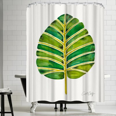 Cat Coquillette Elephant Ear Alocasia Shower Curtain