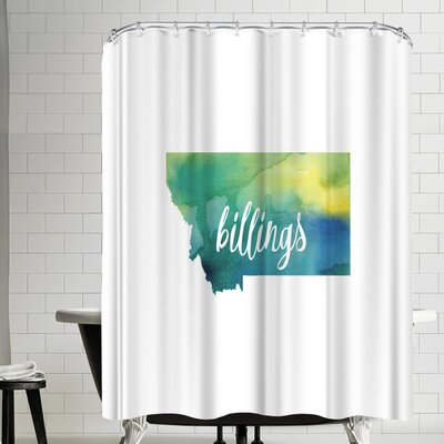 Paperfinch MT Billings Shower Curtain