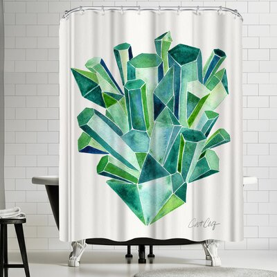 Cat Coquillette Emeralds Shower Curtain