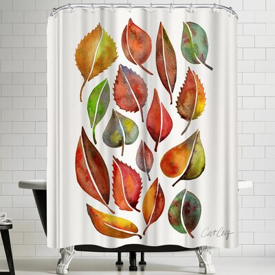 Cat Coquillette Fall Leaves Shower Curtain