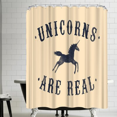 Florent Bodart Unicorns Are Real Ii Shower Curtain