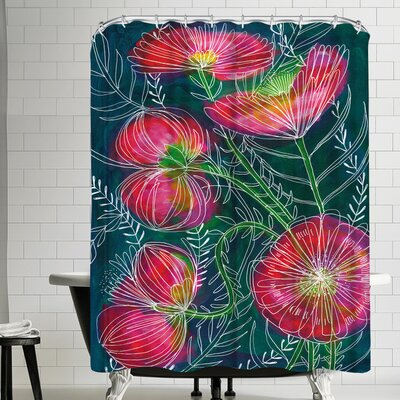 Paula Mills Always Flowers Shower Curtain