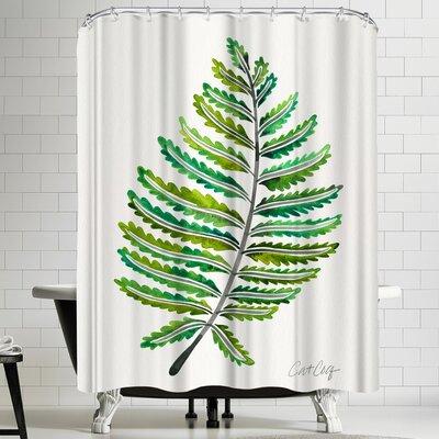 Cat Coquillette Fern Leaf Shower Curtain