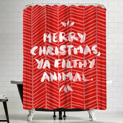 Cat Coquillette Filthy Animal Shower Curtain