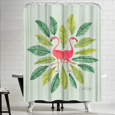 Cat Coquillette Flamingos Shower Curtain