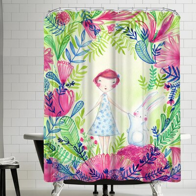 Paula Mills Camille and Thumper Shower Curtain