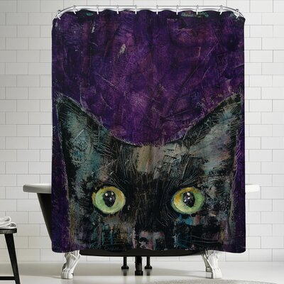 Michael Creese Night Prowler Shower Curtain