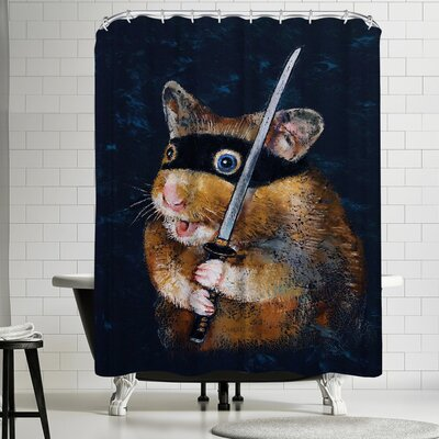 Michael Creese Ninja Hamster Shower Curtain
