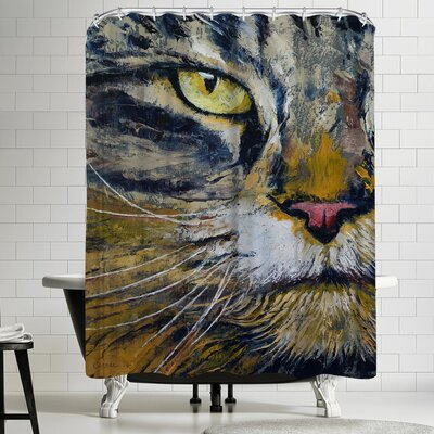 Michael Creese Norwegian Forest Cat Shower Curtain