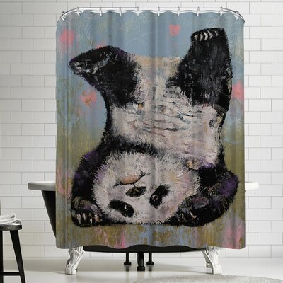 Michael Creese Panda Headstand Shower Curtain