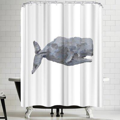 Jetty Printables Sperm Whale Art Shower Curtain