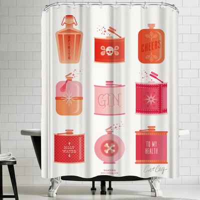 Flask Collection Shower Curtain