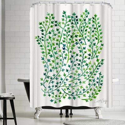 Cat Coquillette Greenivy Shower Curtain