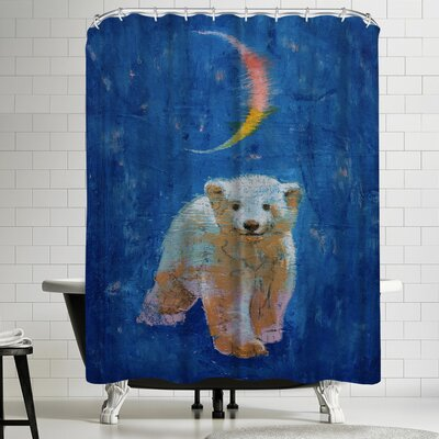 Michael Creese Polar Bear Cub Shower Curtain