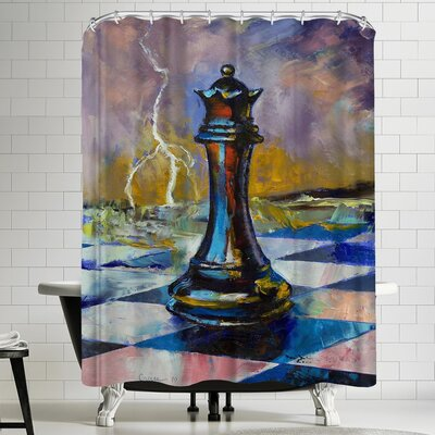 Michael Creese Queen of Chess Shower Curtain