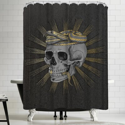 Laura Graves Stay Gold Shower Curtain