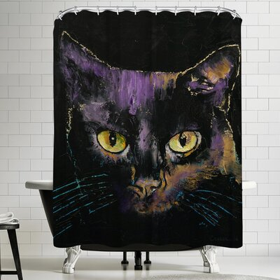 Michael Creese Shadow Cat Shower Curtain