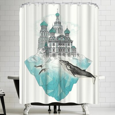 Laura Graves St Peter Sice Burg Shower Curtain