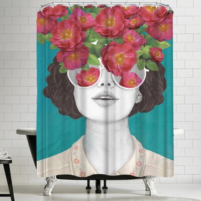 Laura Graves The Optimistrosetinted Glasses Shower Curtain