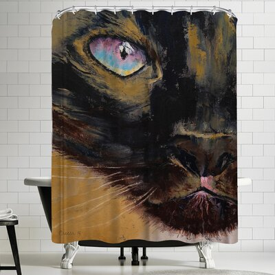 Michael Creese Siamese Cat Shower Curtain