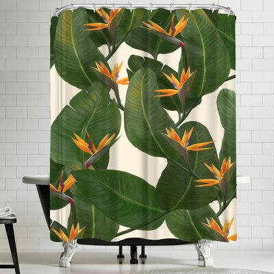 Laura Graves Tropical Floral Shower Curtain