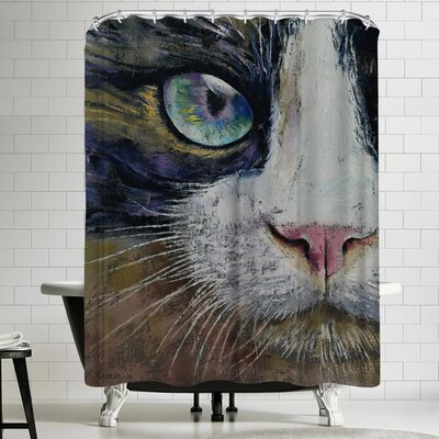 Michael Creese Snowshoe Cat Shower Curtain