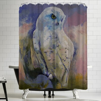 Michael Creese Snowy Owl Shower Curtain